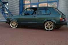 VW MK1 GTI G60 with black gold painted 7x17