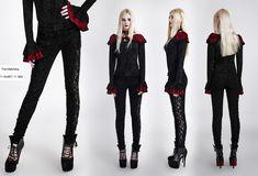 K-246 Gothic 2016 New Style Lace Stitching Flocking Flower Velvet Long Tight Trousers [K-246] - $83.99 : Zen Cart!, The Art of E-commerce