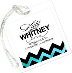 Tiffany Sophisticated Posh Luggage Tags