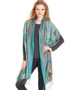 Collection XIIX Paisley Wrap Scarf - Hats, Scarves & Wraps - Handbags & Accessories - Macy's