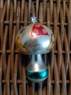 Oude Antieke Kerstbal  521 Paddenstoel DDR