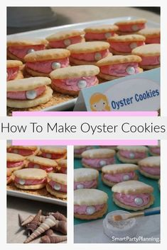 Learn how to make amazing oyster cookies quickly and easily. Perfect for an under the sea or mermaid birthday party. With a pearl added to the center of the cookie they look simply divine. This shell cookies recipe is one you won't be able to resist. Candy Recipes, Cookie Recipes, Oyster Cookies, Best Homemade Cookie Recipe, 4th Of July Desserts, Tray Bakes, Yummy Cakes, No Bake Cake, Oysters