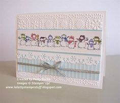 Snowmen Glitters by LaLatty - Cards and Paper Crafts at Splitcoaststampers