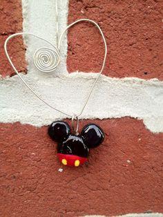 Mickey Mouse: Handmade Clay Pendant. $7.00, via Etsy.