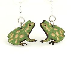 Cute little Poison Tree Frog Earrings  Laser by GreenTreeJewelry, $12.95