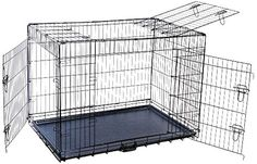 48 by 30 by Folding Triple-Door Metal Dog Crate with Divider Panel, XX-Large, Black ** Additional details found at the image link : Crates, Houses and Pens for dogs Dog Crates For Sale, Metal Dog Kennel, Dog Kennels For Sale, Indestructable Dog Bed, Door Dividers, Wire Crate, Airline Pet Carrier, Large Dog Crate