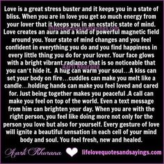 Love is a great stress buster and it keeps you in a state of bliss. When you are in love you get so much energy from your lover that it keeps you in an ecstatic state of mind. Love creates an aura and a kind of powerful magnetic field around you. Your state of …