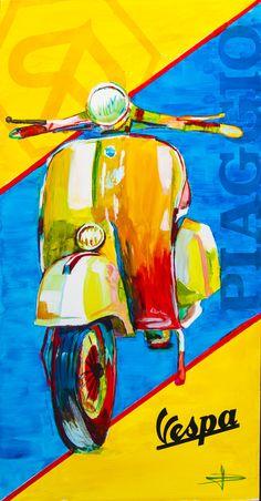 Vespa (60 x 122) by David FERON www.davidferon.be