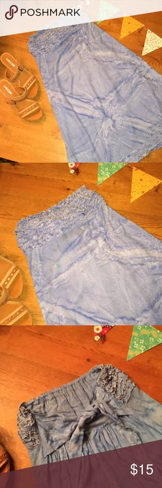 Peaceful People Women's size M summer dress Peaceful People Women's Size M blue tie dye summer flowy dress...very cute...shoes for sale in my closet as well🌸🌺🌼 Peaceful People Dresses