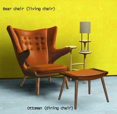 Gardenbreeze.tumblr : Teddy Bear Chair Set