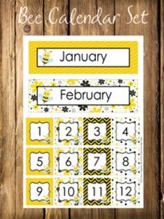 Preschool Classroom Rules, Classroom Themes, Bee Bulletin Boards, Lesson Plans For Toddlers, Teaching Supplies, Theme Days, Bee Theme, Calendar, Busy Bee