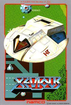 namco XEVIOUS poster