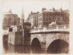 Study of Bristol Bridge, 1845. Salted paper print from calotype negative.