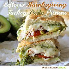 Turkey Pesto Panini | Chew On This- brought to you by NatureBox!