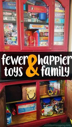Do fewer toys make a happier home? Do you want less toy clutter? It's possible. Come find out how I cut out toys and reduced the clutter in 6 steps. AND see what 3 things happened in our home when I did.