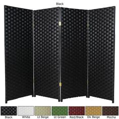 Woven Fiber 4-panel 4-foot Room Divider (China) | Overstock.com Shopping - The Best Deals on Decorative Screens