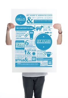 This creative CV is similar to an idea that I have about laying out various rain and tourism facts on a poster. The facts would be layout mu...