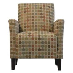 This sleek, transitional arm chair offers spacious seating as well as a no sag, sinuous spring seat cushion for outstanding comfort. Covered in a durable and stylish fabric. The multi-colored Retro Egg polyester rayon blend fabric has a sand colored neutral background accented with muted soft tones of sage, grey-blue, oatmeal, peach, terracotta and khaki. The Belmont arm chair offers style, functionality and durability...