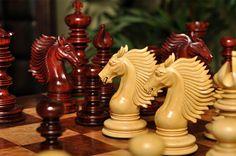 """The Vittoria Series Artisan Chess Set - 4.4"""" King #HouseofStaunton"""