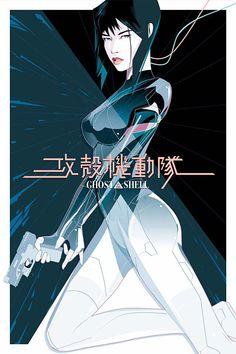 ARTIST: Craig Drake (US) | via: #Yellowmenace | ● See all 38+ GITS Art Prints @ http://blog.yellowmenace.net/2017/04/ghost-in-shell-art-collection.html | #GITS #anime #manga #fanart #poster #art #GhostintheShell
