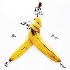 playing with foods – Artist creates fashion sketches on foods