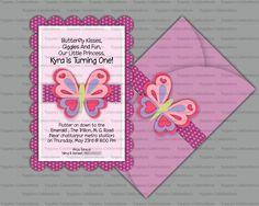 Handmade Butterfly invite