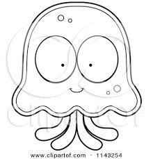 This is the cutest jellyfish coloring page ever! Kids will