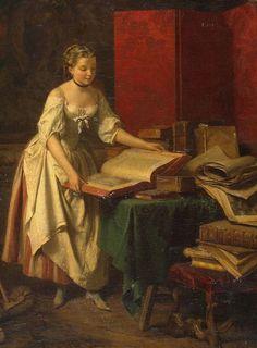 Curious Woman (detail) (1848). Jean-Baptiste Antoine Emile Béranger