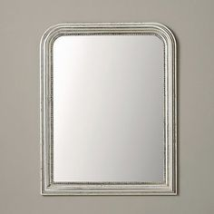 Madison Wall Mirror - Silver | The White Company above the mantlepiece...