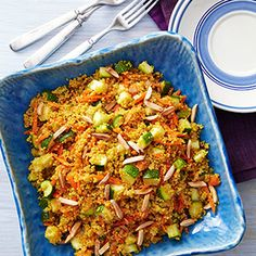 Curried Zucchini  Couscous ....tasty looking!