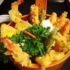 """NoMad Assorted Tempura #shrimp #shishito #shiso #sweetpotato #carrot #lotusroot #tempura #japanese #shrimptempura #nori #izakaya #assortedtempura #japanesebar #sakebar #gastropub #craftbeer"""