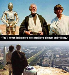 """You'll never find a more wretched give of sum and villiany.""  And Star Wars memes always get a pass.  Always."