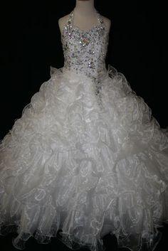 Girls Glitz Pageant Dresses-Long Skirt - LR884