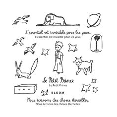 Set of temporary tattoos The Little Prince Set size : 10 x 10 cm