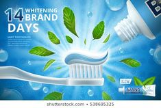 Find Whitening Toothpaste Ads Mint Leaves Flavour stock images in HD and millions of other royalty-free stock photos, illustrations and vectors in the Shutterstock collection. Thousands of new, high-quality pictures added every day. Toothpaste Brands, Flavored Toothpaste, Ad Layout, Advertising Poster, Photoshop Photography, Laundry Detergent, Letterhead, Design Reference, Graphic Design Inspiration