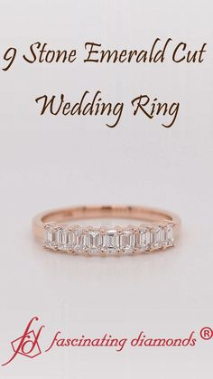 This 1 carat emerald cut wedding band is a modern sophistication ring, made in solid rose gold with premium quality emerald cut diamonds, this band works beautifully as a wedding or anniversary gift. Emerald Cut Wedding Band, Rose Gold Wedding Jewelry, Wedding Bands, Best Diamond, Diamond Rings, Diamond Cuts, Pearl Jewelry, Jewelery, Fashion Jewelry