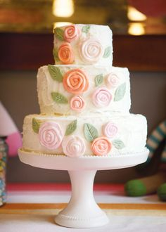 Pastel Flower Cake!