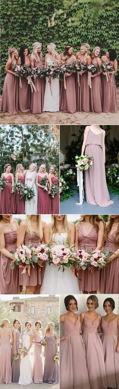 dusty rose bridesmaid dresses for 2017 trends