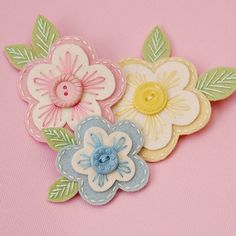 felt flower clips (just the picture)