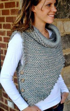 Hottest Pic Crochet cowl shrug Tips Best crochet shrug chunky scarf patterns ideas Diy Tricot Crochet, Poncho Au Crochet, Chunky Crochet, Knitted Shawls, Crochet Yarn, Lace Shawls, Knit Cowl, Hand Crochet, Shawl Patterns