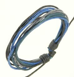 Mens Surf Surfer Style Multi-Coloured Cord Bracelet Wristband - 92