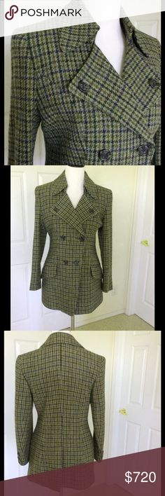 "🆕 Auth Burberry Vintage Plaid Wool Coat Exc. Cond This amazing Burberry coat is like new! Vintage dating to before 1999 when Burberry's logo was changed. Double breasted. Front flap pockets. Chest 38""; waist 33""; hip 40""; length from shoulder 28.5"". 100% wool; lining is 100% sarin acetate. Smoke free home. ❌ I do not trade ❌⭐️Trusted 5 star rated Suggested User Burberry Jackets & Coats"