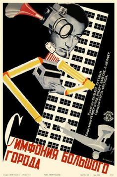 Further influence of constructivism in film posters. The abstract nature of constructivist art can be seen in the arrangement of objects in the poster's design. Stenberg Brothers (The Red List, Vintage Movies, Vintage Posters, Vintage Art, Retro Posters, Bauhaus, Photomontage, Eslava, Russian Constructivism, Russian Avant Garde