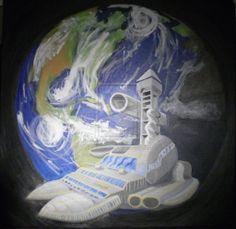 Outside-ship-view-of-earth by PrincessTS01.deviantart.com on @deviantART