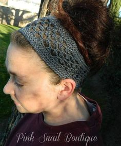 Peekaboo Picot Crochet Headband free pattern by Pink Snail Boutique exclusively for Cre8tion Crochet