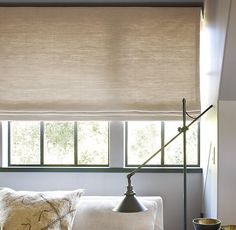 Flat Roman Shade | Custom Shades | Restoration Hardware