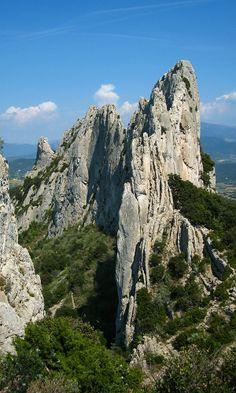The Dentelles de Montmirail in Provence, Vaucluse, France