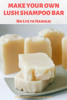 DIY Lush Shampoo Bars - Best Picture For Skincare beauty For Your Taste You are looking for something, and it is going to - Diy Shampoo, Lush Shampoo Bar, Solid Shampoo, Homemade Shampoo, Organic Shampoo, Homemade Conditioner, Organic Soap, Diy Cosmetic, Natural Remedies For Rosacea