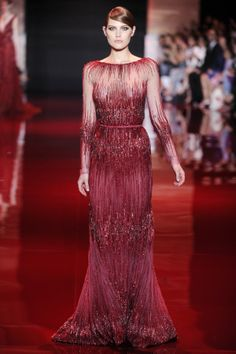 When it came to sequins, the designer practiced no restraint for his fall couture collection.