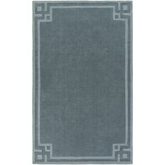 Charlton Home Peever Hand-Loomed Teal Area Rug Rug size:
